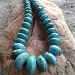 Sterling MASSIVE Genuine TURQUOISE necklace